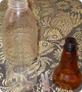 Прочее: Обрезанные пластиковые бутылки для кормушки