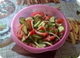 Кулинария: Салат из огурцов и помидоров