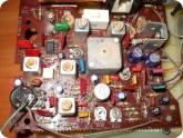 Мой опыт ремонта: Плата радиоприемника Альпинист - конденсаторы отмечены