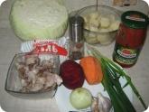 Кулинария: Ингридиенты для приготовления борща