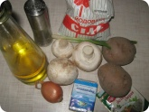 Кулинария: Ингридиенты для грибного супа с плавленым сыром