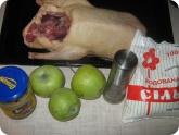 Кулинария: Ингредиенты для приготовления утки с яблоками
