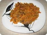 Кулинария: Готовый плов на тарелке