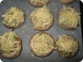 Кулинария: Фаршированные грибы перед духовкой