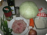 Кулинария: Ингредиенты для голубцов в духовке
