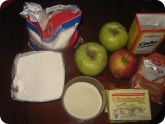 Кулинария: Ингредиенты для яблочного пирога