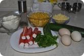Кулинария: Ингридиенты для салата с крабовыми палочками - фото