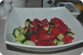 Кулинария: Подготовленные ингридиенты для греческого салата