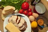 Кулинария: Ингредиенты для салата Цезарь - фото